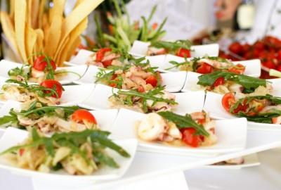 snacks on a buffet